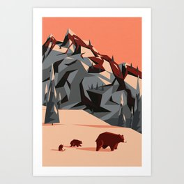 The first rays of light Art Print