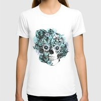 ohm T-shirts featuring Blue grunge ohm skull by Kristy Patterson Design