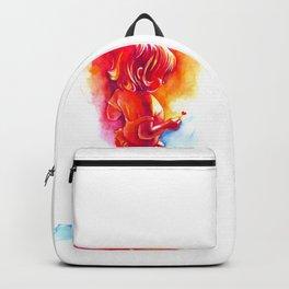little girl with little heart Backpack