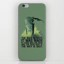 The wai is shut! iPhone Skin