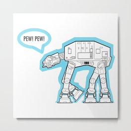 Pew! Pew! Metal Print