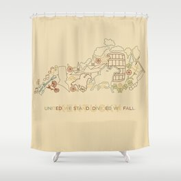 Kentucky State Lines Shower Curtain