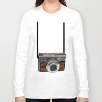 cameras Long Sleeve T-shirts featuring Vintage cameras by Tish
