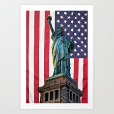 Liberty Patriot Art Print