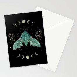 Luna and Moth - Midnight Black Stationery Cards