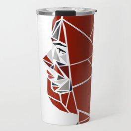 Natasha Romanoff Polygonal Design Travel Mug