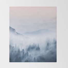 Pastel landscape 03 Throw Blanket
