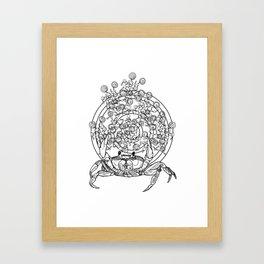 Bullseye Crab Framed Art Print