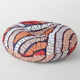 Mosaic fans Terrazzo Blobs Floor Pillow