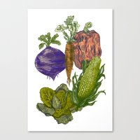 vegetables Canvas Prints featuring Vegetables by Marcelo Romero