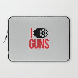 I heart Guns Laptop Sleeve