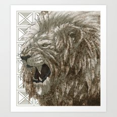 SAVANA LION Art Print