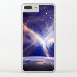 CLOSE TO THE UNIVERSE Clear iPhone Case