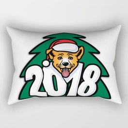 Happy New Year of Yellow Dog Rectangular Pillow
