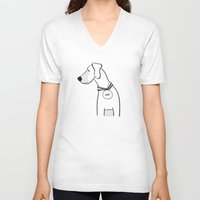 great dane V-neck T-shirts featuring great dane by klipface