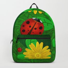 Ladybug Whimsey 3D Folk Art Backpack