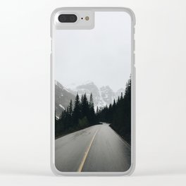 Moraine Lake Road Clear iPhone Case