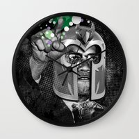 magneto Wall Clocks featuring MAGNETO X by BlackKirby1