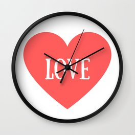 Love Heart Valentines Day Wall Clock