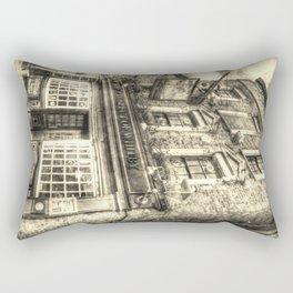 Prospect of  Whitby Pub London 1520 Vintage Rectangular Pillow