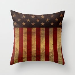 Star Spangled Banner. The Flag of the United States of America Throw Pillow
