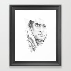 bonobo dot work portrait Framed Art Print