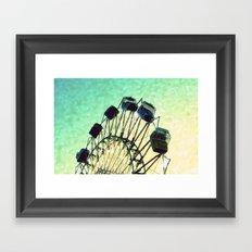 Ferris Wheel Heart Bokeh Framed Art Print