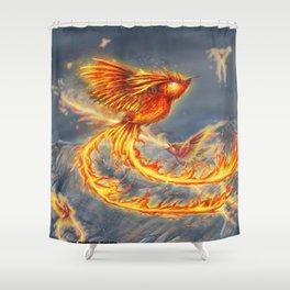 Hummingbird Phoenix Shower Curtain