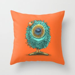 Mr Eye Throw Pillow