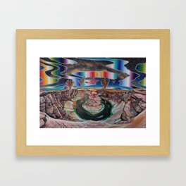 Come, walk with me. Let faith be all you need. Framed Art Print