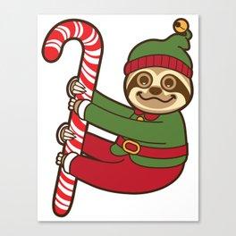 Sloth Elf Canvas Print