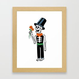 The groom Framed Art Print