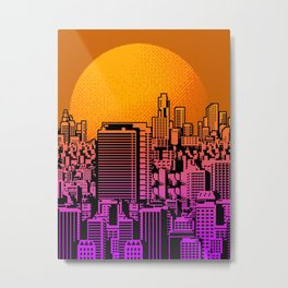 Cityscape collage 01B Metal Print