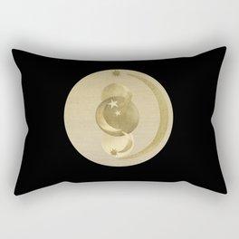 Black Gold Moon and Stars #1 #decor #art #society6 Rectangular Pillow