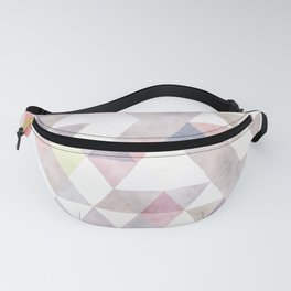 Modern abstract geometrical pastel tones watercolor Fanny Pack