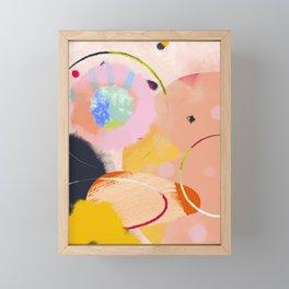 circles art abstract Framed Mini Art Print