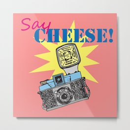 Say cheese! collection: Diana camera Metal Print