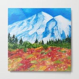 Mt. Rainier Meadows Metal Print
