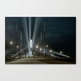 Why Do Rockets Launch At Night Canvas Print
