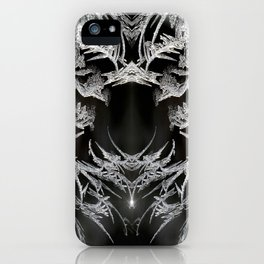 Ice Crystals In Black And White #decor #society6 #homedecor iPhone Case
