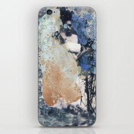 Peach and Periwinkle iPhone Skin