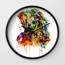 The Girl is a DJ Wall Clock