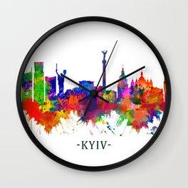 Kyiv Ukraine Skyline Wall Clock