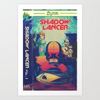 Shadowlancer VHS Art Print