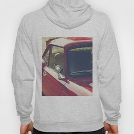Sportscar, supercar, windscreen details, red triumph spitfire, english car Hoody