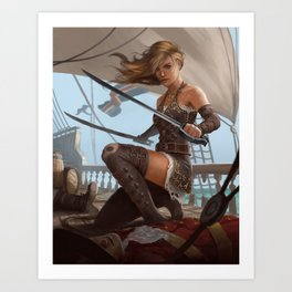 Pirate Blade Master Art Print