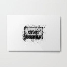 cassette / tape Illustration black and white painting Metal Print