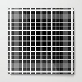 Black and white check . Plaid . Metal Print