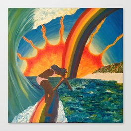 Surfing Surreal Canvas Print