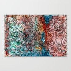 Circles, Water, & Color Drawing Meditation Canvas Print